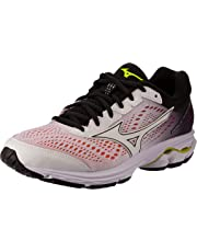 Mizuno Australia Women's Wave Rider 22 Running Shoes, White/White/Black, 9.5 US