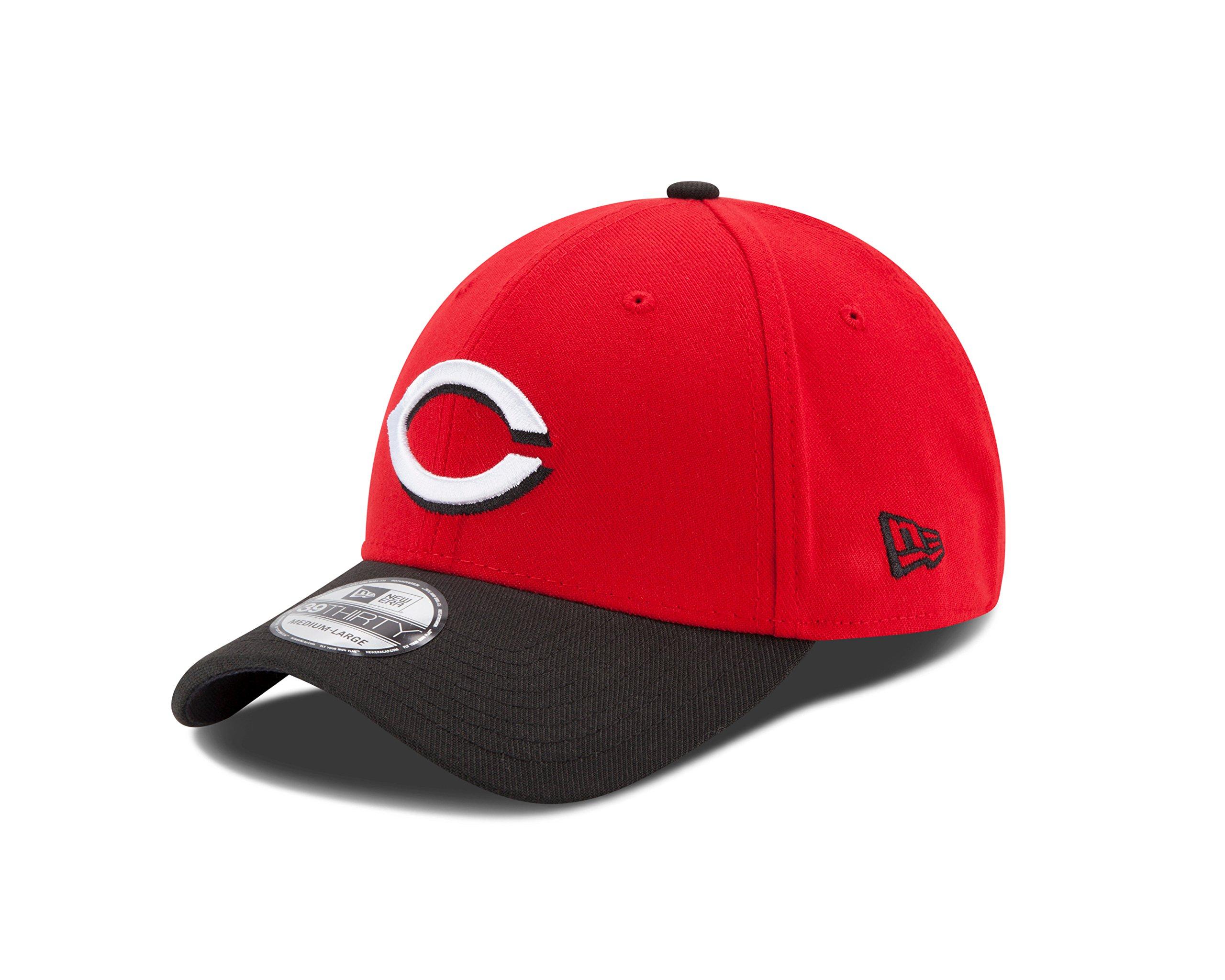 MLB Cincinnati Reds Team Classic Road 39Thirty Stretch Fit Cap, Red, Small/Medium