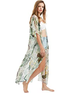 31fe4c3e82 NFASHIONSO Bikini Swimwear Cover up Split Kimono Cardigan Beach Top ...