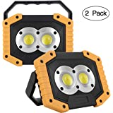 UNIKOO Rechargeable Work Light COB 30W 1500LM, Waterproof LED Portable Flood Light for Outdoor Camping Hiking Emergency…