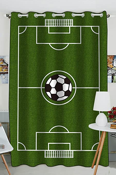 Custom Soccer Field Football Pitch Blackout Curtains Window Treatment Panel Drapes 52W X