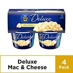 Kraft Deluxe White Cheddar Macaroni and Cheese Dinner, 4 ct - 9.56 oz Package