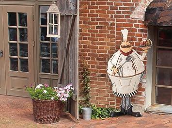 Sunjoy Friendly Pastry Chef de pared para exteriores Art