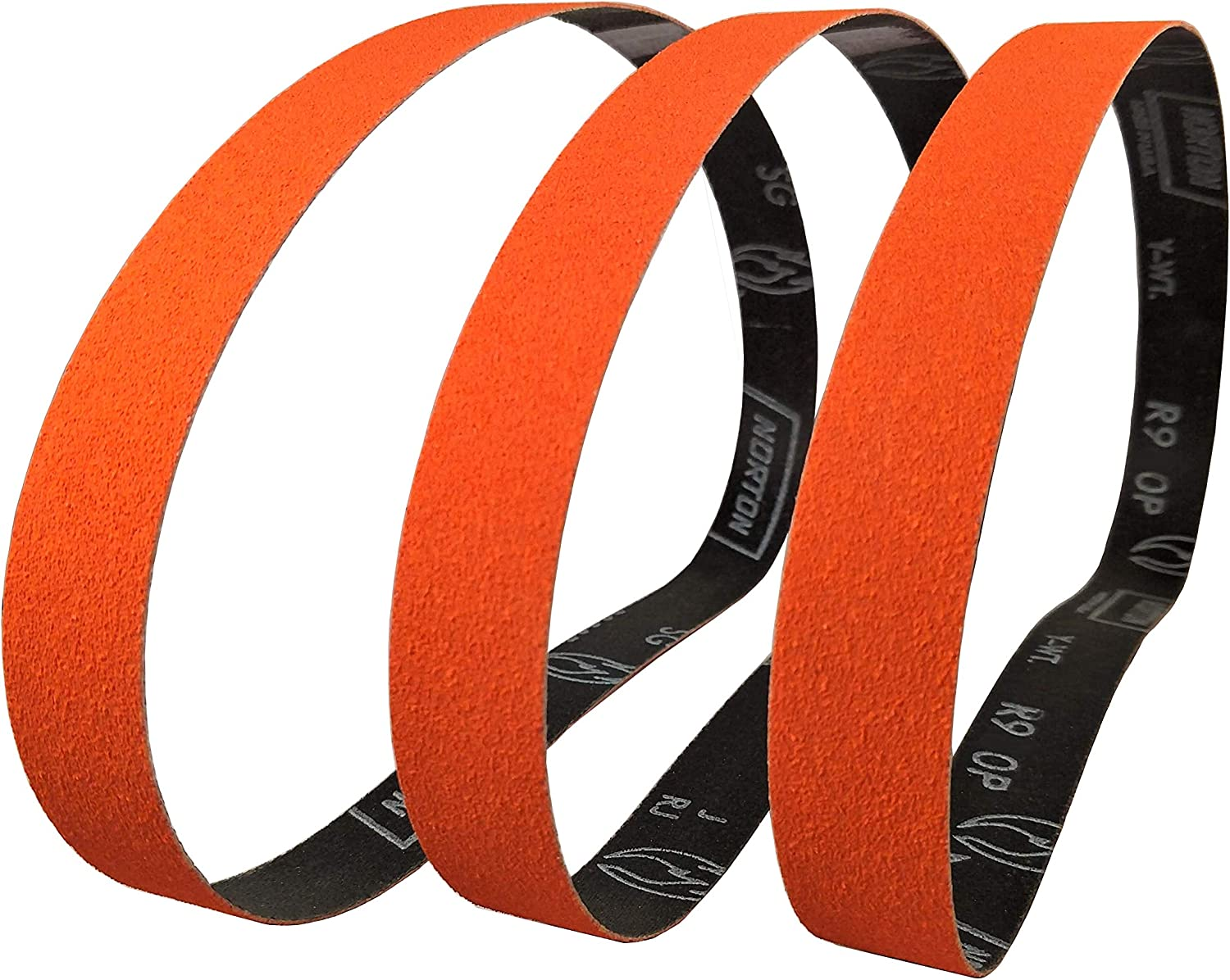 Norton SG Blaze Plus 1x30 60 Grit Ceramic Sanding Sharpening Belts 3 Pk Long Lasting