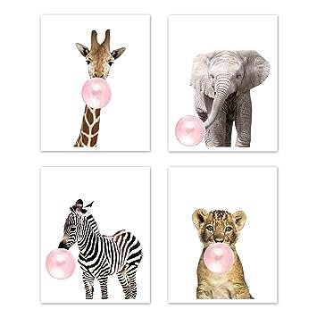 Kids decor Kids wall art Set of prints Nursery decor Nursery prints Jungle animal prints Nursery wall art Safari nursery Animal art