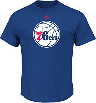 Majestic Philadelphia 76ers NBA Supreme Logo Men s Short Sleeve – Camiseta – Blue