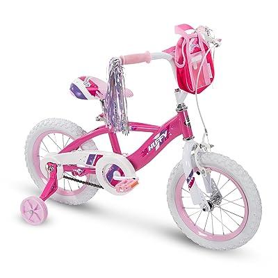 "Huffy 14"" Glimmer Girls Bike, Pink : Sports & Outdoors"