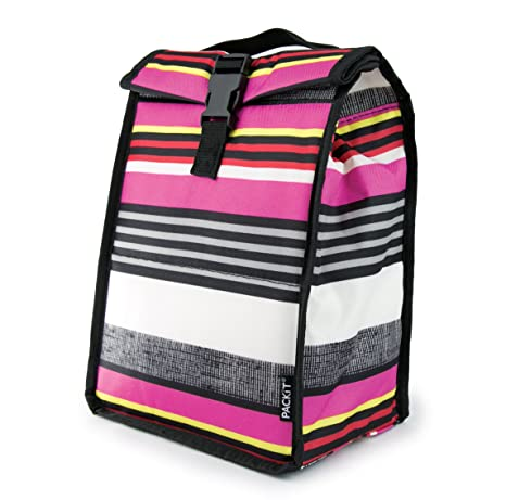 a30a3f449fb7 PackIt Freezable Rolltop Lunch Bag, Shauna Stripe