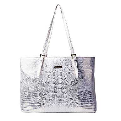 862fd17554d0 Women's Tote Bags Fashion Designer Cosmetic Purses Hot Selling for Work  Travel and Shopping (Silver)