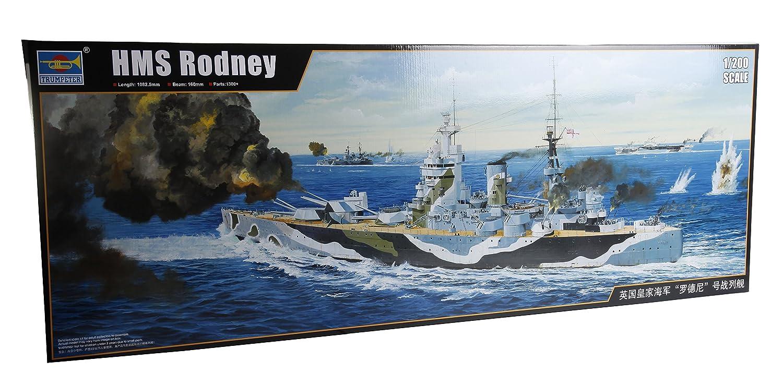 トランペッター 1/200 イギリス海軍戦艦 HMS ロドニー プラモデル B0151FOU7M