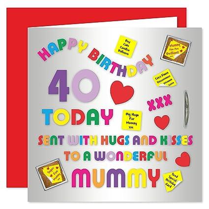 Mummy 40th Tarjeta de felicitación de cumpleaños - diseño de ...