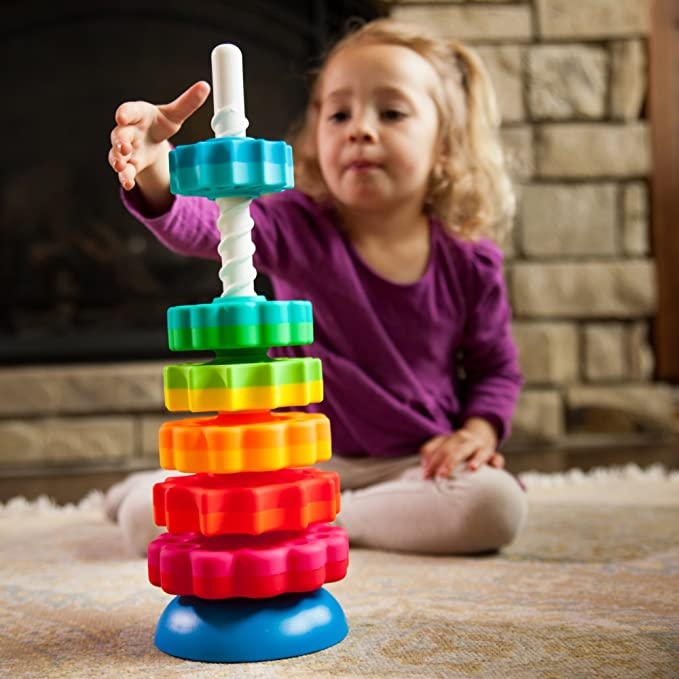 Fat Brain Toys MINI SPINNY Baby Developmental Spinning Turning Colorful Toy