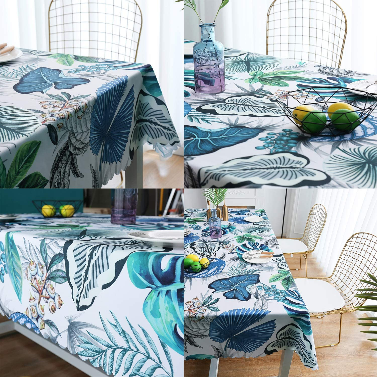 Kitchen Dining Indoor Outdoor Buffet Tabletop Decoration 60x84 Water-Proof Rectangle Table Cover Original Design Hand Drawing Art Print Table Cloth Avocados iLiveX Tablecloth