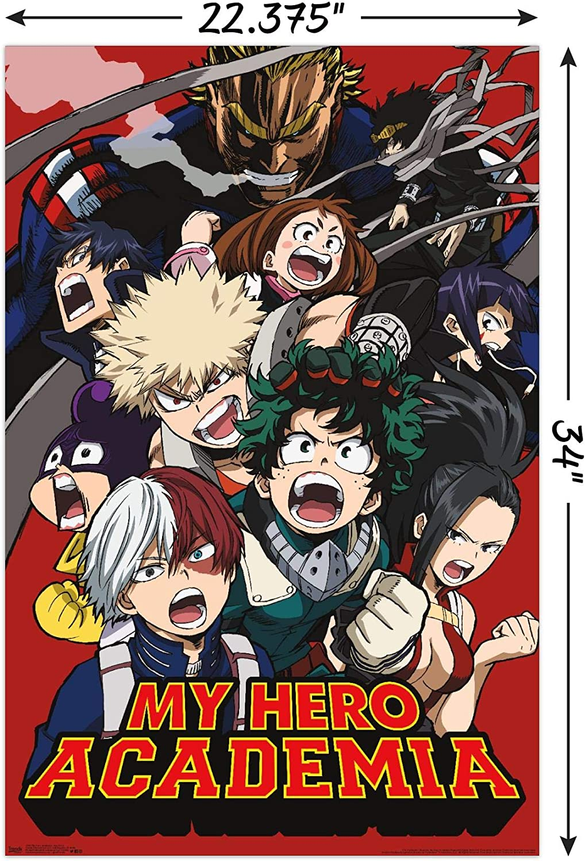My Hero Academia Anime Manga Poster Art Print Wall A3 A4 5x7 Satin Matt Gloss v2