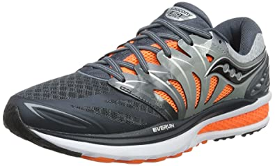 Mens Hurricane Iso 2 Reflex Competition Running Shoes, Grey, US Saucony
