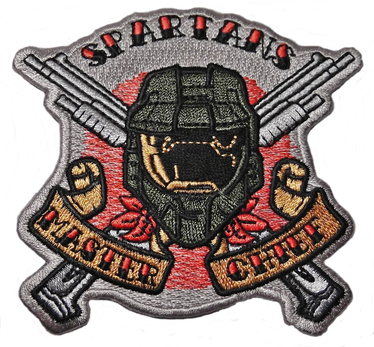 Amazon Halo Spartans Master Chief Logo 3 14 Tall Embroidered