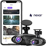Nexar Pro Dual Dash Cam (Road & Interior Recording) 128 GB