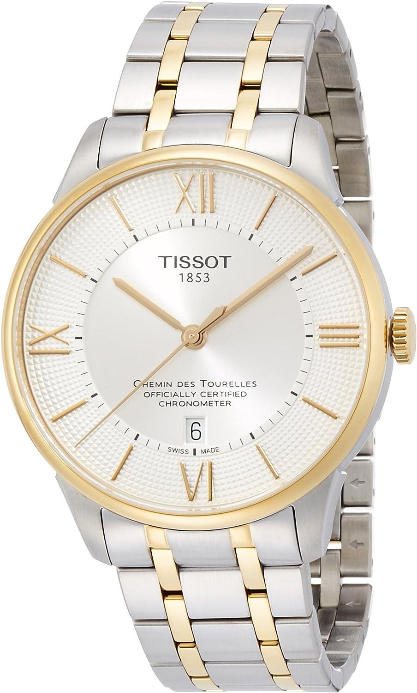 Tissot Men's T099.408.22.038.00 Chemin Des Tourelles Automatic Silver Dial Two-tone Watch