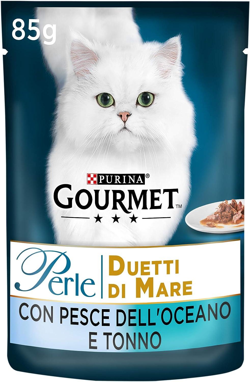 Gourmet - Perlas combinadas de Pescado del océano y atún, 85 g, 24 Unidades