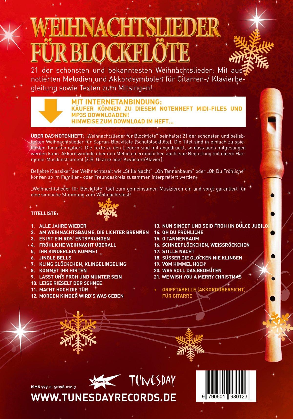 Weihnachtslieder mit der Nacht im Titel