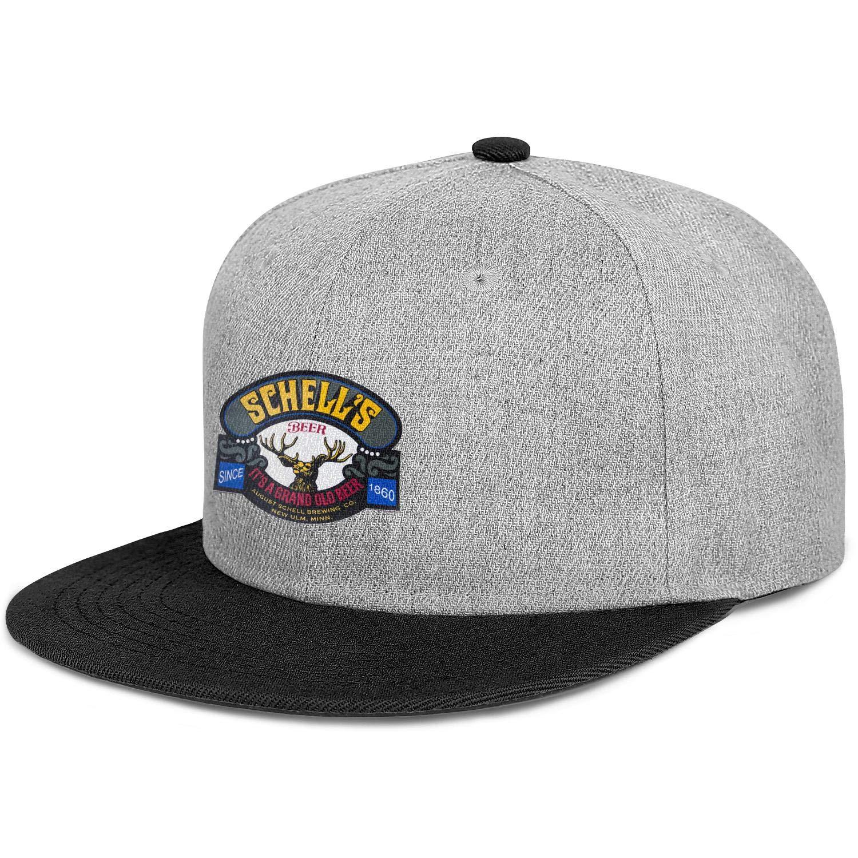 August Schell Brewing Mens Womens Wool Trucker Cap Adjustable Snapback Dad Hat