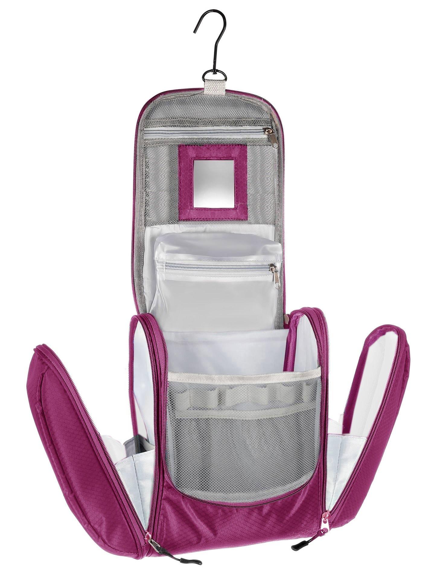 822fa1297 KRONIFY Bolsa de Aseo Mujer Grande con Espejo para Mujeres y Hombres Bolsa  de cosméticos Grande