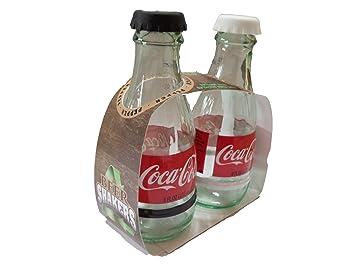 Coca-Cola de vidrio reciclado salero y pimentero