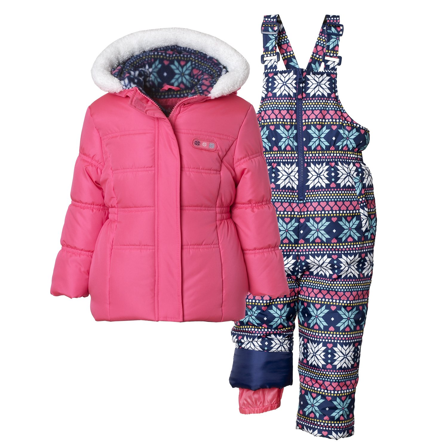 dc8b69adb2f0 Top7: Pink Platinum 2-PC Toddler Girl Snowsuit, Cheetah Print, Hearts and  More