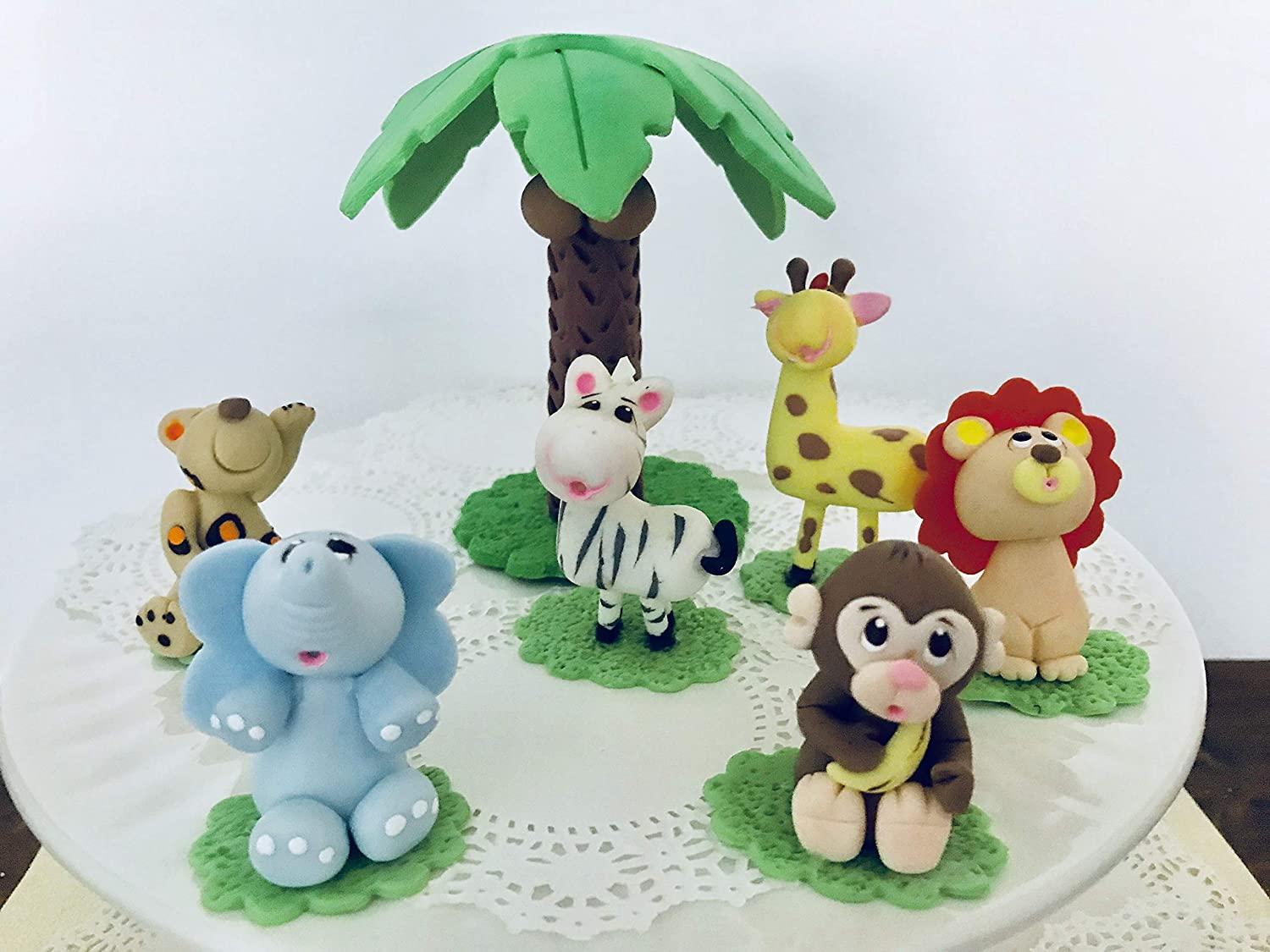Jungle Set.Cake Topper.