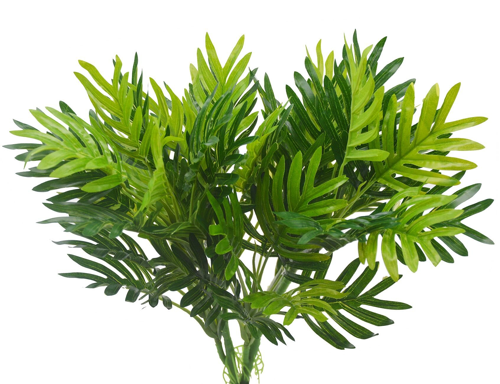 2 pcs Faux Palm Plants Tree Artificial Plants Palm Leaves Greenery Tree for Fake Simulation Greenery Plants Indoor Outside Home Garden Office Home Wedding Décor