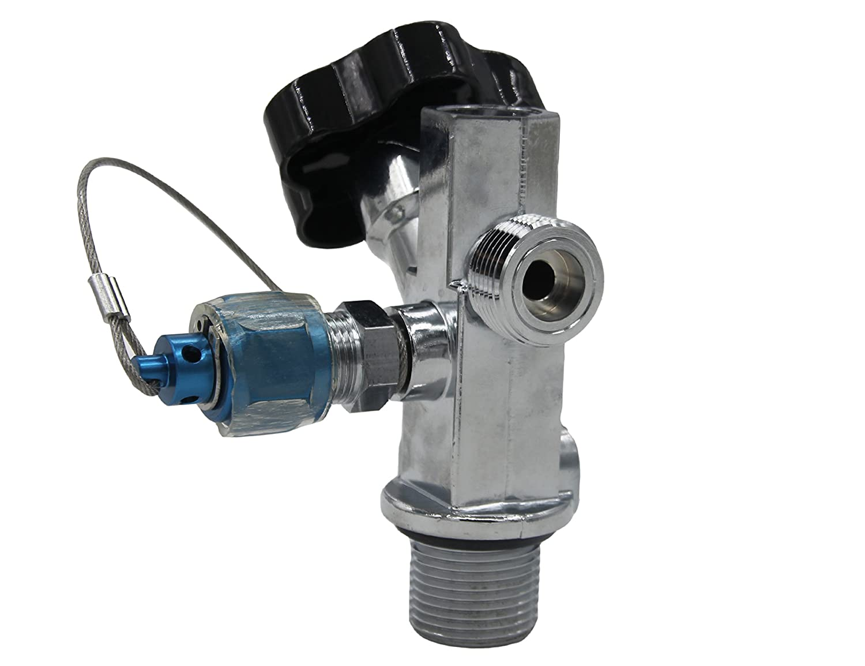 Dracary Nitrous Oxide Systems SUPER Hi-Flo Bottle Valve with Nitrous Bottle Siphon Tube Work For NOS 16139,10lb Bottle