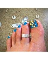 トーリング 6mm幅 星 ( シルバー ) フラワー シンプル スタイル きれい 足指用 リング toe ring