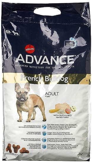 Advance pienso para Perro French Bulldog Pato y arroz 3 kg - Pack de 4: Amazon.es: Productos para mascotas
