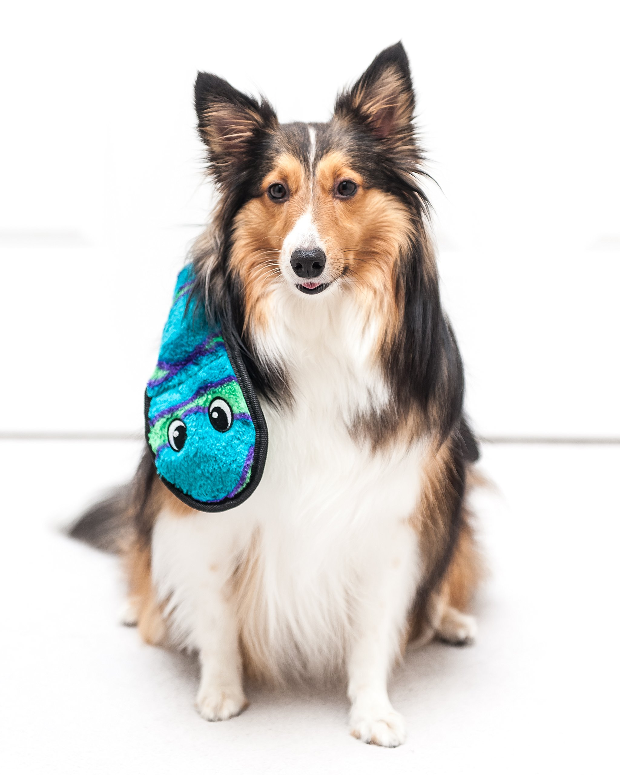 Outward Hound Invincibles Squeaking Dog Toy, Durable Tough Plush Snake by, Ginormous 12 Squeakers, Green by Outward Hound (Image #2)