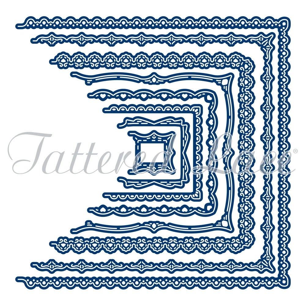 Tattered Lace Card Shapes Ornate Squares - 8 Die Set - Make Your Own Shaped Card Blanks
