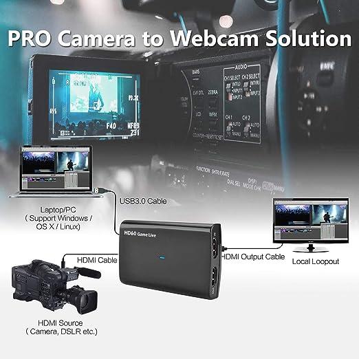 Y&H HDMI Videoaufnahmekarte,HD Video und Audio Capture Card,1080P ...