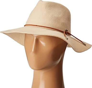 aec1abeec San Diego Hat Company Women's Braided Trim Floppy Fedora Hat, Bone, One Size