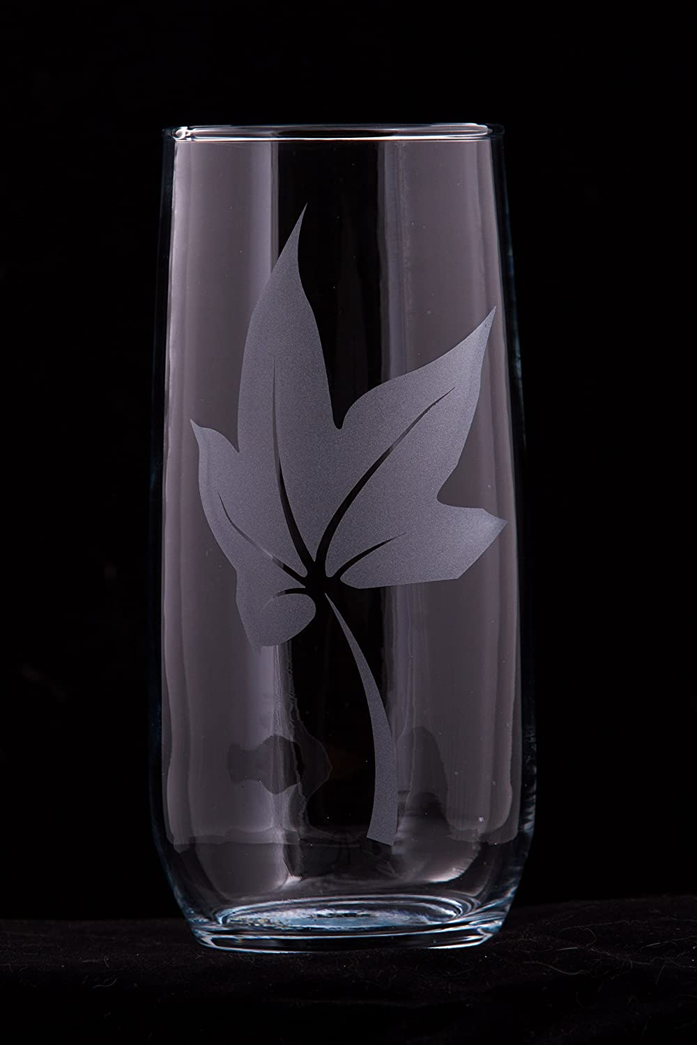 Falling Leaves Glass Tumbler (with optional customization)