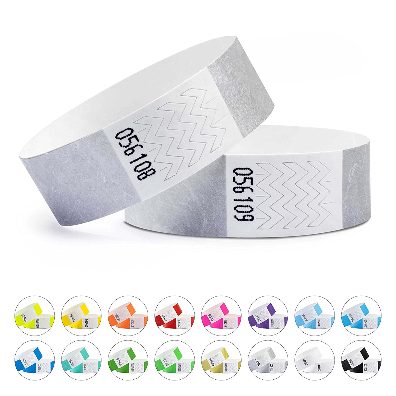 linie zwo®, Pack de 1.000 pulseras de seguridad Tyvek® 19 mm, Azul