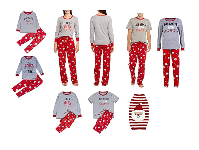 08a18078a3 Family Christmas Pajamas Set Santa Long Sleeve Letter Printed Sleepwear  Nightwear Parent Child Family Equipment Matching