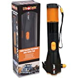 Cynergy Lifelight All-in-One Waterproof Emergency Crank Flashlight complete with Wind Up Rechargeable LED lights Window Breaker Seatbelt Cutter Compass USB Cell Phone Charger and Red Light Flasher
