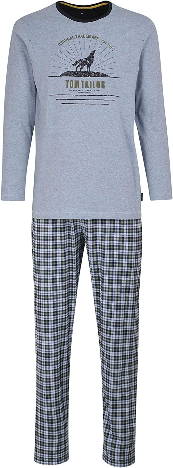 TOM TAILOR Pijama para hombre, color azul, 1 unidad: Amazon ...