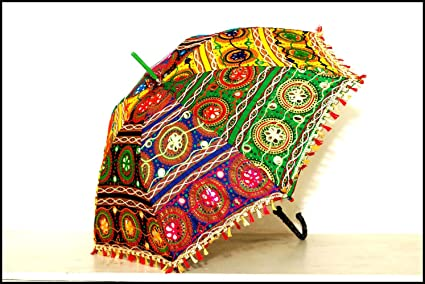 Amazon Com Colorful Design Rajasthani Handicraft Umbrella Umbrella
