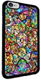 Disney All Characters Stained Glass Iphone 6+ 6Plus (5.5 inch) Rubber Case Black