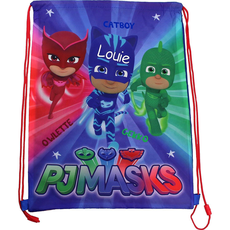 TeddyT's Personalised PJ Masks Drawstring School Sports Gym Bag TeddyT's