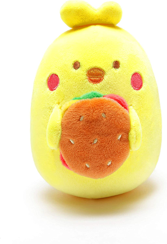 Anirollz Food Plush Stuffed Animal Chicken Burger Toy Squishy Mini Ball Chickiroll