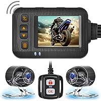 Brteyes Câmera de gravação HD 1080p dupla à prova d'água para todas as motocicletas, câmera frontal e traseira de…