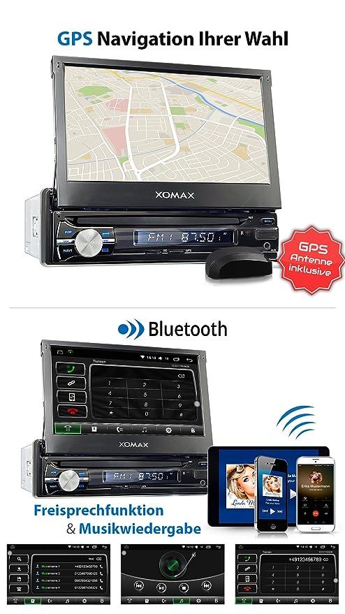 XOMAX XM-VA714 Android 6.0.1 radio de coche / naviceiver con GPS + 7