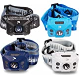 INSANE Sale! Flagship-X 4-Pack USB Rechargeable Hands Free Motion Sensing Waterproof LED Camping AI Headlamp Flashlight For Running