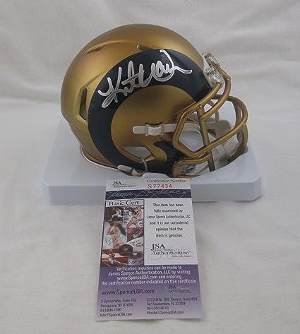 low priced 0788c 38e92 Amazon.com: Kurt Warner Autographed Mini Helmet - BLAZE ...